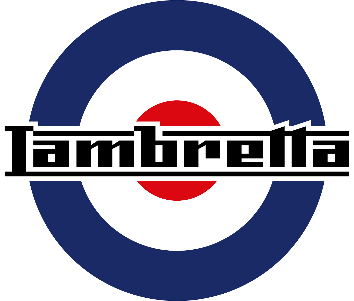 Lambretta logo blue red white